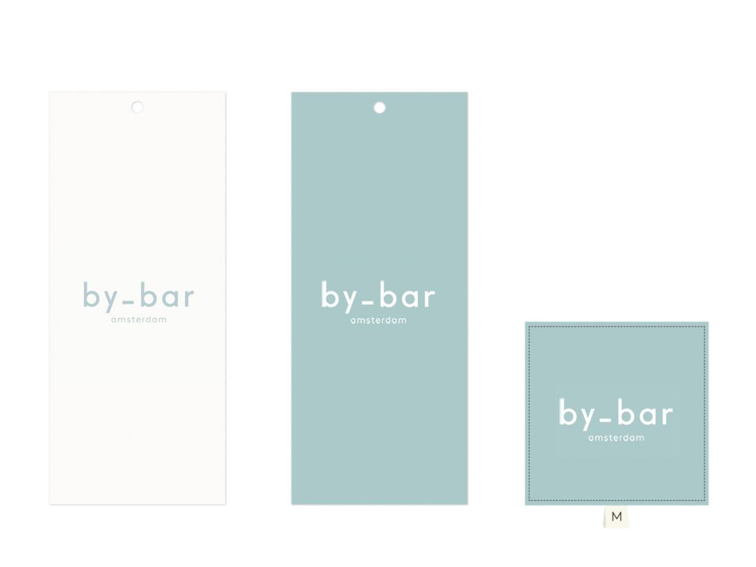 toepassingen op hangtag nieuwe logo by-bar amsterdam