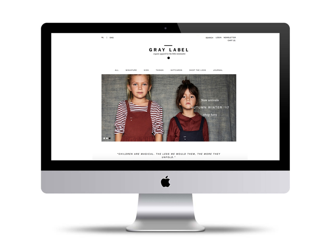 re-design webshop gray label