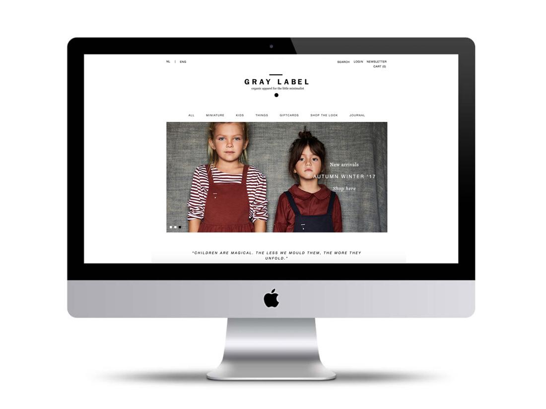 re-design webshop gray label